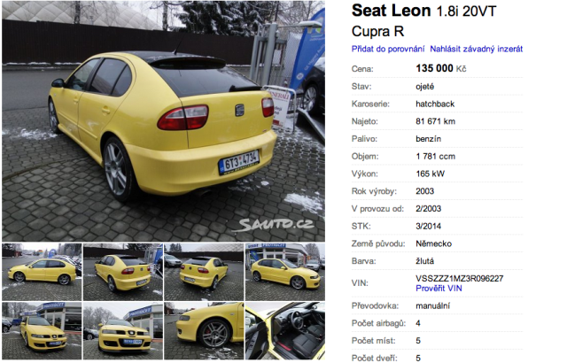 Seat Leon Cupra R   Foto sauto.cz